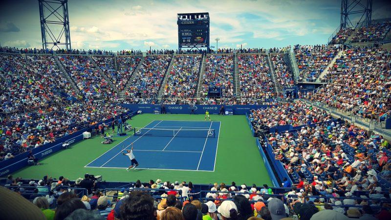ダゾーンでテニスを観戦