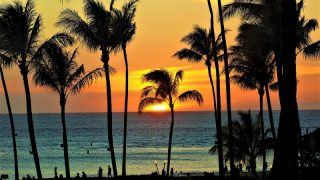 マウイ島の夕日